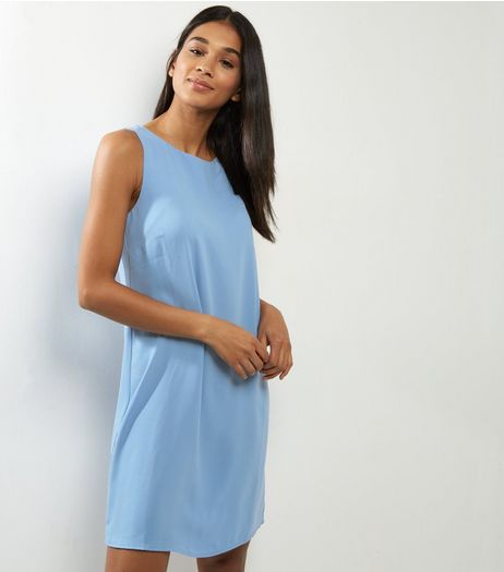 Blue Sleeveless Tunic Dress | New Look