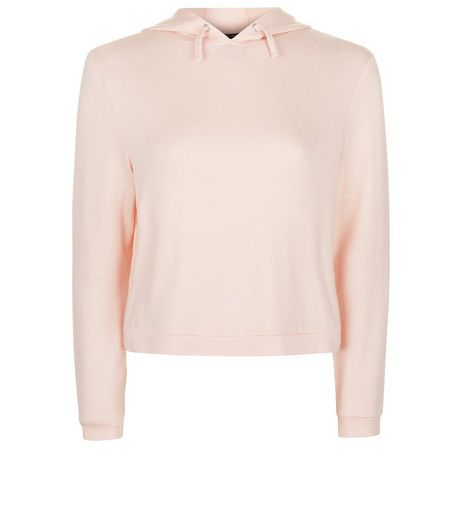 Teens Pink Ribbed Hoodie | New Look