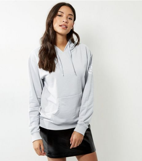 Pale Grey Style Paris Hoodie | New Look
