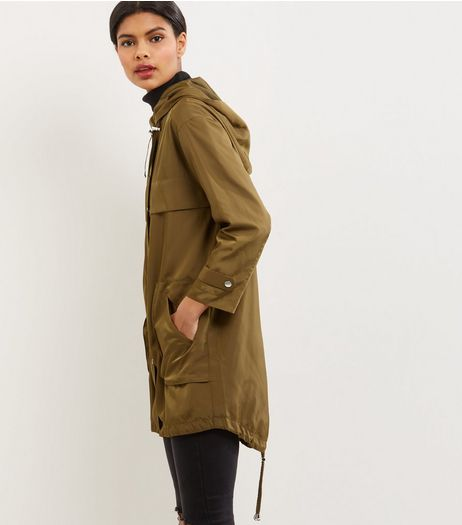 Petite Khaki Hooded Parka  | New Look
