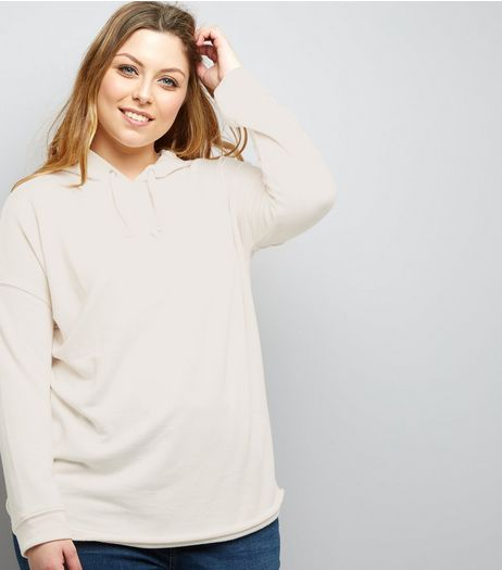 Curves Cream Hoodie | New Look