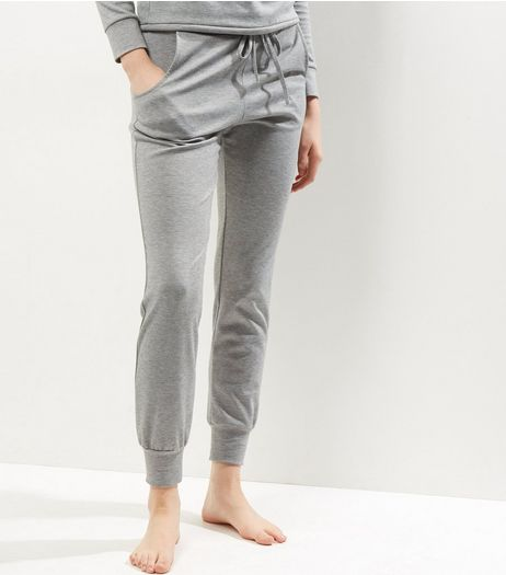 Grey Tie Waist Joggers  | New Look