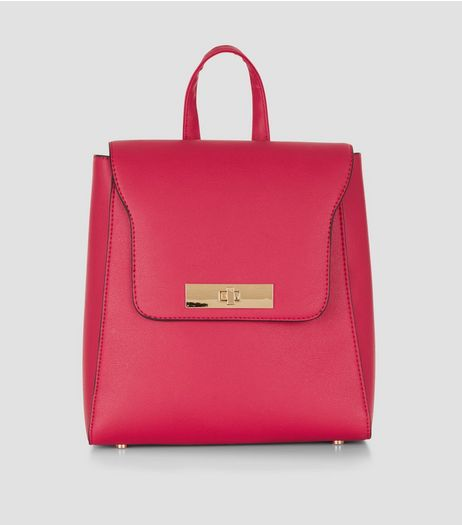Bright Pink Mini Backpack | New Look
