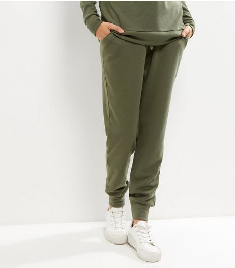 Cameo Rose Khaki Tie Waist Joggers | New Look