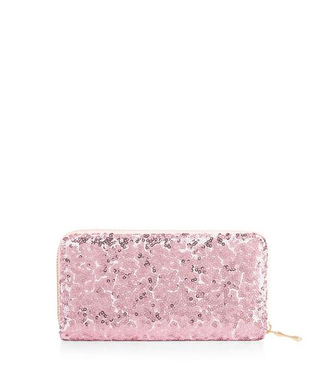 Pink Sequin Purse  | New Look