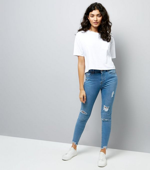 high waisted washed out jeans - Jean Yu Beauty