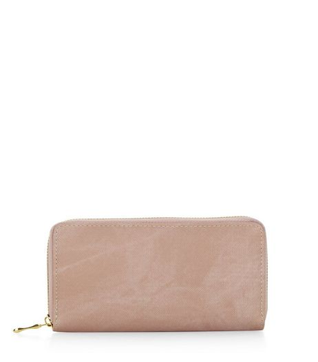 Pink Denim Zip Around Purse | New Look