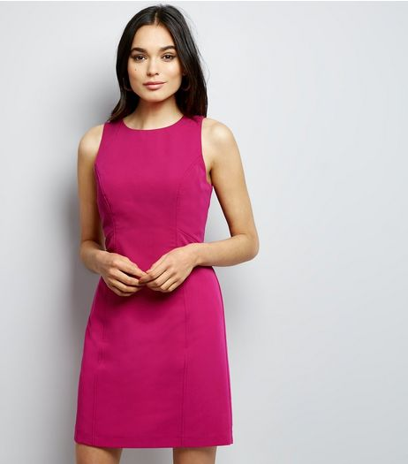 Bright Pink Suit Dress | New Look