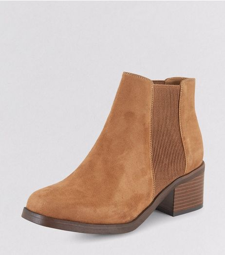 Teens Tan Suedette Chelsea Boots | New Look