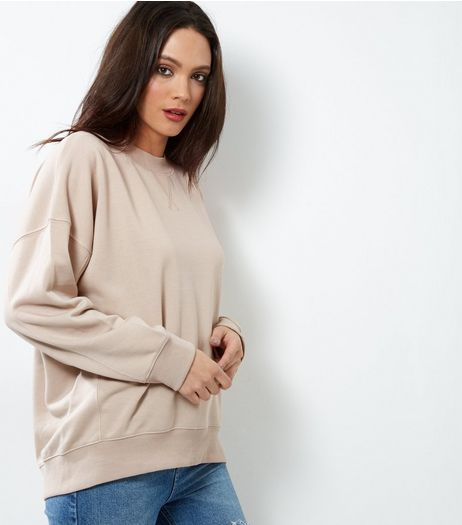 Stone Balloon Sleeve Sweater  | New Look