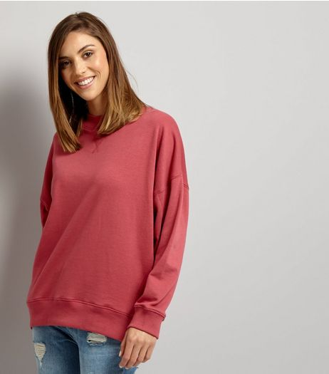 Deep Pink Balloon Sleeve Sweater | New Look
