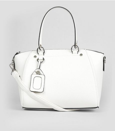 White Mini Bowler Bag | New Look