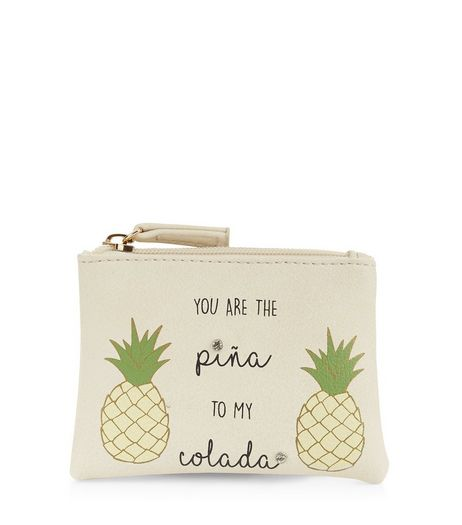 Stone Pina Colada Zip Top Purse | New Look
