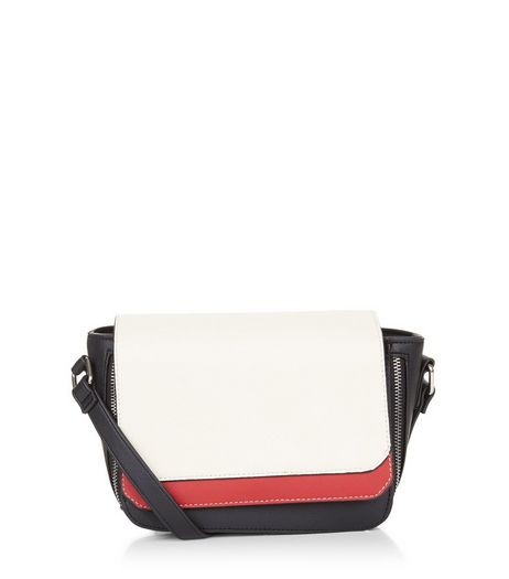 Red Double Panel Cross Body Bag | New Look