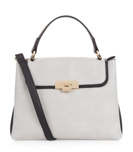 Grey Contrast Trim Shoulder Bag | New Look
