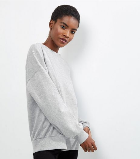 Grey Balloon Sleeve Sweater | New Look