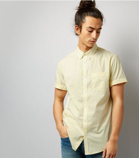 Yellow Cotton Short Sleeve Shirt | New Look