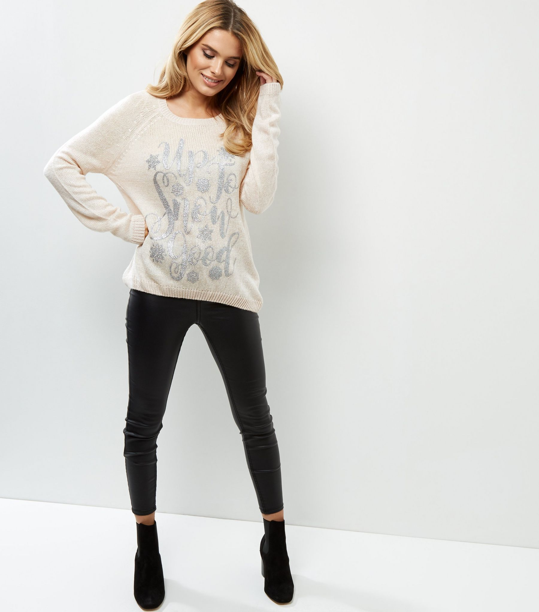 Cream Up To Snow Good Jumper | New Look