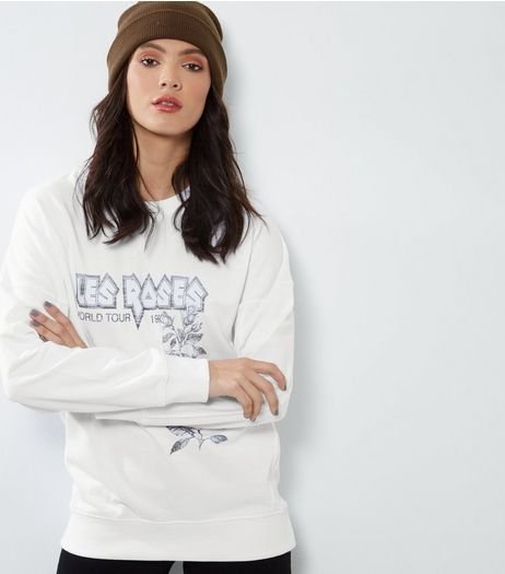 Tall White Les Roses Balloon Sleeve Jumper | New Look