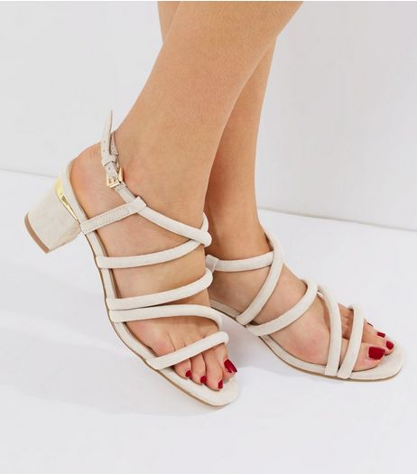 Grey Suedette Tube Sandals | New Look