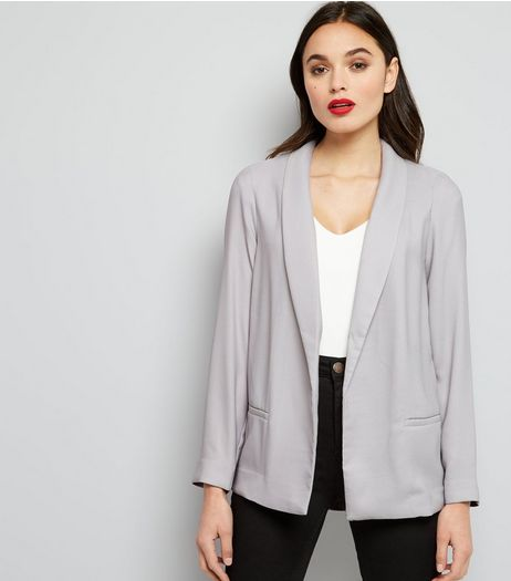 Grey Soft Blazer | New Look