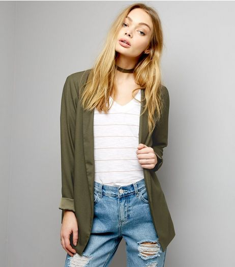 Khaki Soft Blazer  | New Look