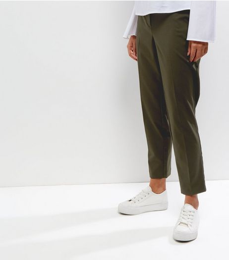 Dark Green Slim Leg Trousers | New Look