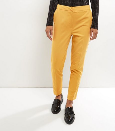 Yellow Slim Leg Trousers | New Look