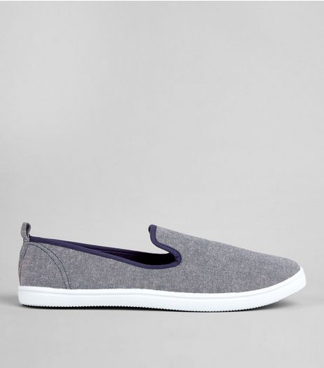 Light Blue Canvas Plimsolls | New Look