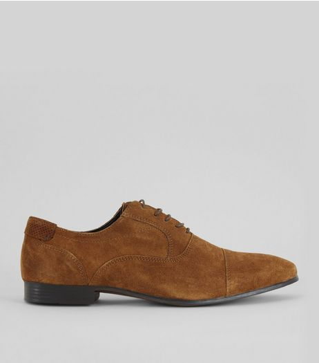 Brown Suede Derby Shoes | New Look