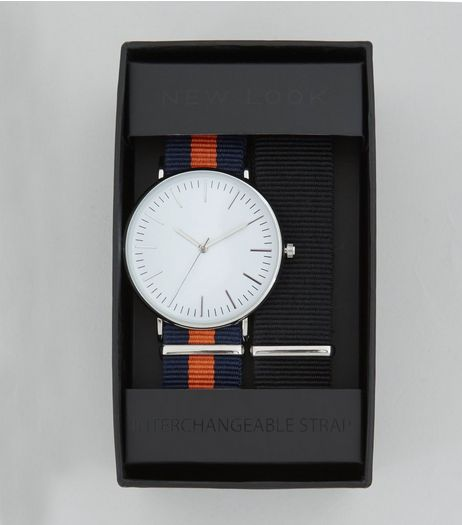 Orange Contrast Stripe Strap Watch | New Look
