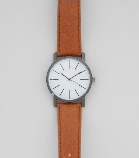 Brown Leather-Look Watch  | New Look