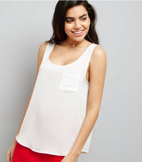 JDY White Sleeveless Top  | New Look