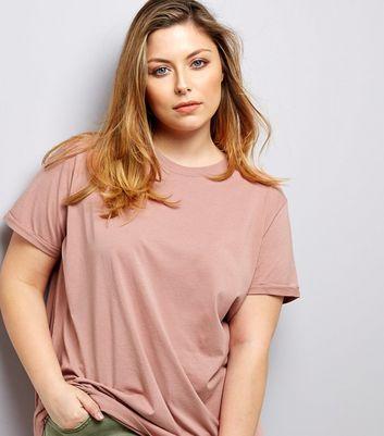Curves Pink Boyfriend T-Shirt