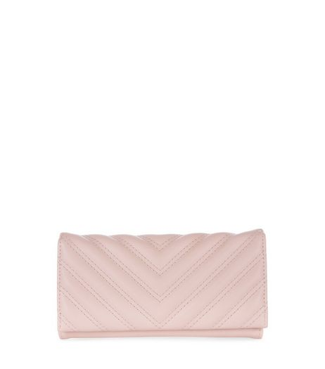 Cream Quilted Foldover Purse | New Look