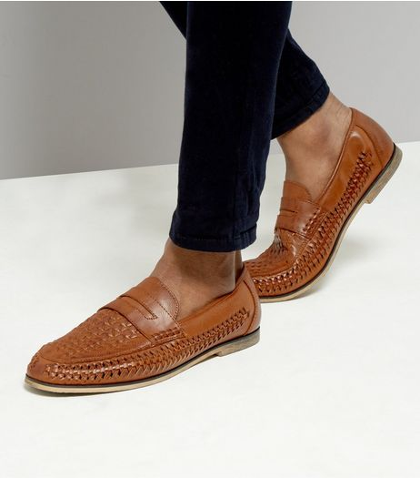 Tan Woven Side Loafers | New Look