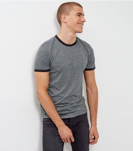 Light Grey Marl Ringer T-Shirt | New Look