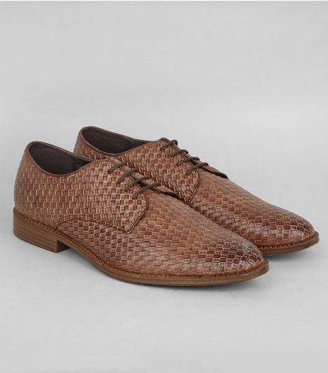 Brown Woven Derby Shoes | New Look