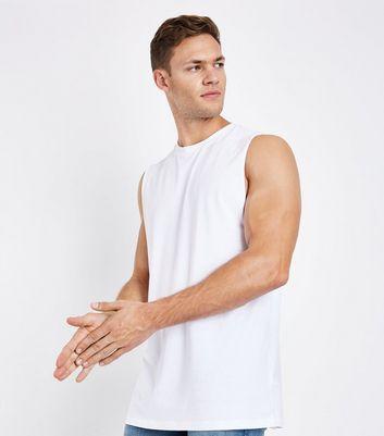 White Dropped Armhole Vest