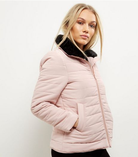 Petite Shell Pink Padded Jacket | New Look