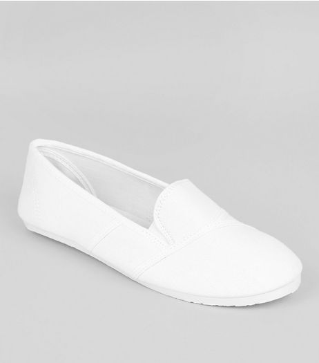 White Slip On Shoes | New Look
