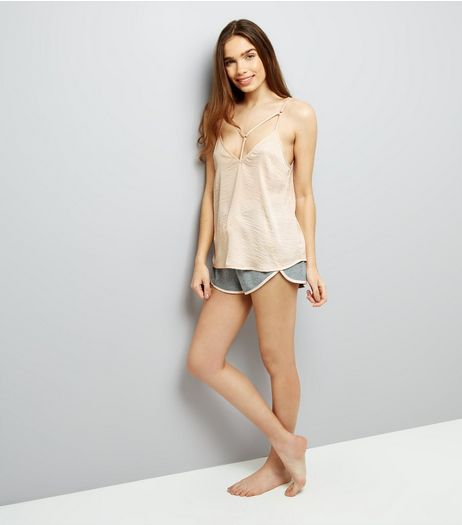 Shell Pink Sateen Pyjama Cami Top  | New Look