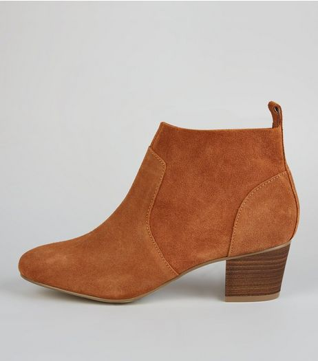 Tan Suede Western Boots | New Look