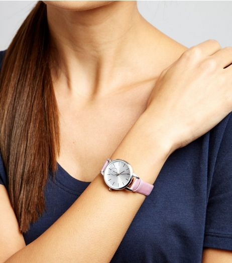 Pink Iridescent Strap Watch | New Look