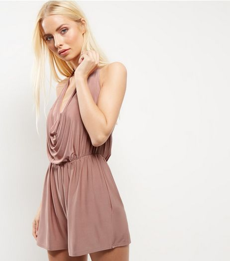 Cameo Rose Pink Cowl Neck Playsuit | New Look