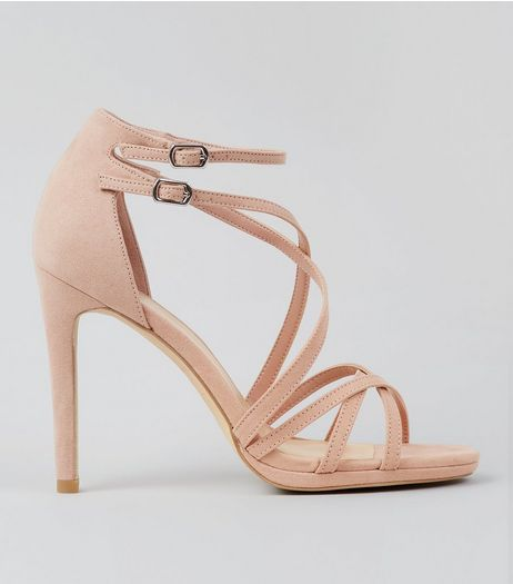 Cream Suedette Multi Strap Heeled Sandals | New Look