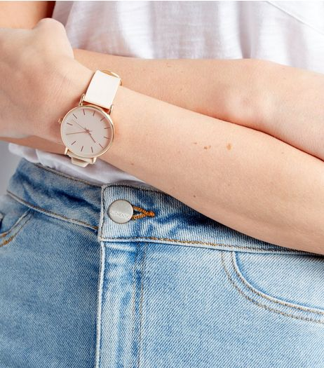 White Ultra Slim Watch | New Look