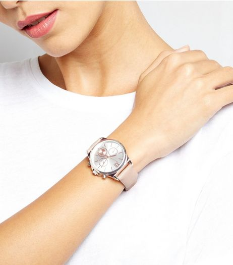 Pink Metallic Dial Watch | New Look
