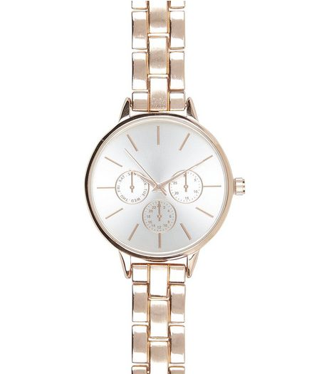 Rose Gold Links Sports Watch  | New Look