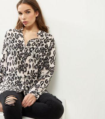 Pale Pink Leopard Print Shirt